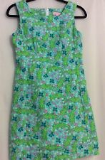 Lilly Pulitzer Sheath Dress Turquoise Alberta Gator Sz 2 EUC HTF