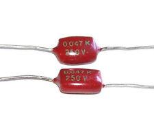 2 Condensateurs SIEMENS Mylar NEUFS 47nF - 250V - 0.047uF - 47000pF
