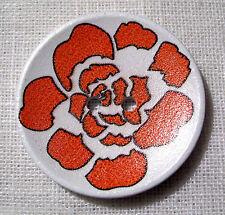 40/105 - BOUTON BOIS VERNIS DESIGN rouge ** 40 mm 4 cm ** Lot au choix X1 X2 X3