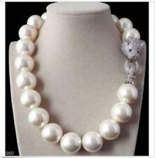 """Huge 18""""13-17MM KASUMI WHITE ROUND NUCLEAR PEARL NECKLACE GOOD LUSTER AA+"""