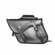 LARGE QUICK DETACH PLAIN MOTORCYCLE PVC LEATHER SADDLEBAGS UNIVERSAL FIT