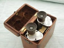 "German ""C.P.Goerz"" Binoculars, damaged but with wooden original case, parts only"