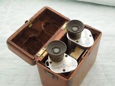 "German ""C.P.Goerz"" Binoculars, damaged but with wooden original case, parts only"