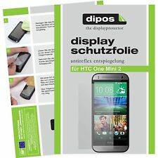 1x dipos HTC One mini 2 matte Displayschutzfolie Antireflex Testsieger passgenau