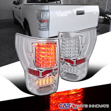 For 07-13 Toyota Tundra Pickup Clear LED Tail Lights Brake Parking Lamps Pair