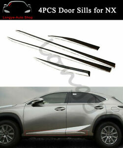 Fits for Lexus NX NX200 NX300h 2015-2020 Side Door Sill Trim Mouldings Bar Plate