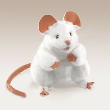 White Mouse Puppet with Movable Legs & Mouth, Folkmanis MPN 2219, 3 & Up