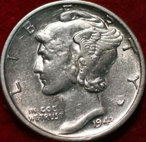 Uncirculated 1943-S San Francisco Mint Silver  Mercury Dime
