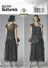 Sewing Pattern Butterick 6399 Drop-Waist Dress Flapper Roaring '20s Costume