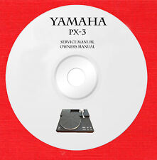 Service owner manuals for Yamaha PX-3 turntable on 1 DVD in pdf format