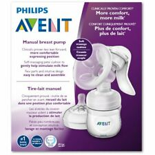 NEW Philips Avent Manual Breast Pump With Bottle and Nipple ~ SCF330/30