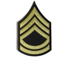 "US Army Sergeant First Class Insignia Patch Green /& Gold WW2 WWII 4.5 x 3/"""