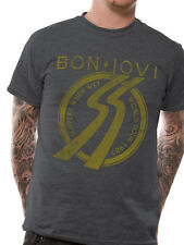 Official T Shirt BON JOVI- SLIPPERY TOUR 87 Size S Grey Mens Licensed Merch New