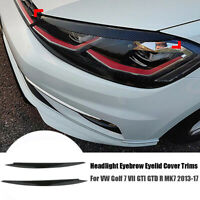 2x Kohlefaser Scheinwerfer Augenlid Blende Abdeckung für VW Golf 7 GTI GTD R MK7