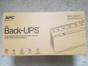 Battery Backup & Surge Protector APC BE600M1 Back-UPS with USB Charger 600VA