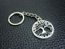 KC052 Tree of Life Keychain Pewter Key Ring Christmas Gift Bag Charm Free Sign