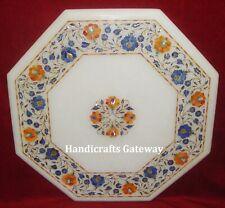 Marble Handicrafts Tea Table Top, Marble Inlay Designer Octagonal Table Tops