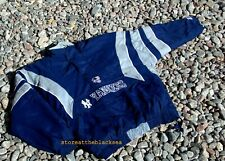 NEW YORK YANKEES STARTER BASEBALL COAT JACKET BOMBER L BLUE GREY MEN