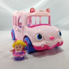 Fisher Price Little People Pink Lil Movers School Bus 2005