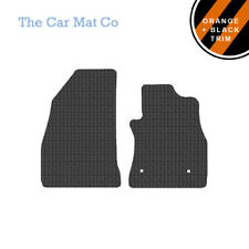 Fiat Doblo Van 2010+ Fully Tailored Rubber Van Mats With Orange Stripe Trim