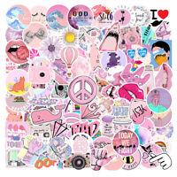 100Pcs Pink VSCO Sticker Bomb Decal Pack Vinyl Car Skateboard Laptop Luggage Lot