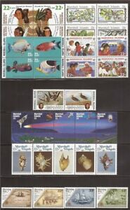 Marshall Islands - 1985 8 Different Complete Sets - Scott #63-94