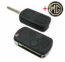 Lucas mg rover 25 45 zr zs voiture flip porte-clés avec key blank + gratuit mg logo KEY.003