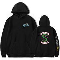Serpent Of Riverdale Hoodie Sweatshirt Side Serpents Jumper hooded Jacket Mens
