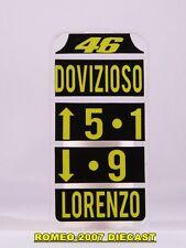 1:12 Pit board - pitboards Valentino Rossi-Dovizioso-Lorenzo no minichamps RARE