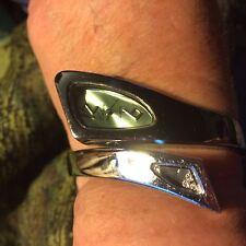 celsior women's wrap wrist watch silver tone with crystals quartz analog