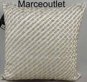 "Hudson Park Quartzite Beaded 16"" x 16"" Decorative Pillow White"
