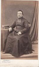 Photo cdv : Legros , Prêtre photographié à Paris , vers 1863
