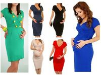 Maternity Evening dress,pregnant pregnancy Party office maternity dress, 408