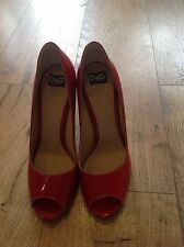 Dolce & Gabbana Red Patent Shoes Size 6