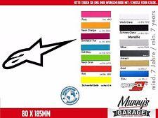 Alpinestars - 80x185mm Aufkleber, Sticker, Motorsport, Autocollat, Étiquette