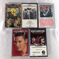 LOT 5 Vintage Cassette Tapes ELVIS EARTH WIND & FIRE CCR DURAN DURAN ELO SAMPLER