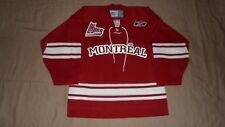Montreal Junior Red Reebok Youth Size S/M LHJMQ QMJHL CHL Hockey Jersey