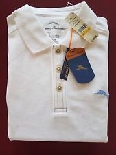 Tommy Bahama Polo Shirt Emfielder Pique Bright White T20856 Large L