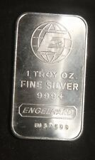 ENGELHARD PORTRAIT 1 OZ .999+ SILVER BAR   ID-EI-09V    SN=FI57500 LOT 230322