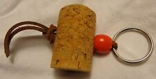 Korbel - Key Chain - Cork with a leather string ....NEW