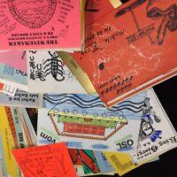 VTG 70's Grab Bag Lot of 25 Ham CB QSL Swap Club Cards Domestic International