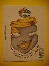 Beer Coaster: De KONINCK ~ Danielle Gaffa-Mask  ~ Antwerp World Diamond Center