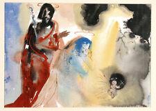Salvador Dalì, Sacra Bibbia, stampa d'arte 4/6 colori, 50x39cm, autentica