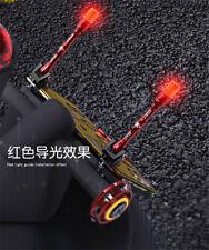 1x Red/Black Aluminum Motor Waterproof Cool styling Antenna w/Luminous LED light
