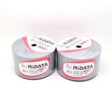 100 Ridata 16x White Top Blank DVD-R DVDR Disc Media