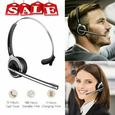 Wireless Blue Headset Noise Cancelling Handsfree Bluetooth Mic For Truck Drilver