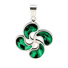 LAUBURU cristal verde COLGANTE acero inox. BASQUE LIVE ideas REGALO país vasco