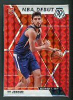 2019-20 TY JEROME 87/88 PANINI MOSAIC NBA DEBUT RED ROOKIE RC #273
