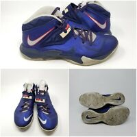 Nike Zoom Lebron Solider VII Navy 599264 400 Basketball Shoes Sneakers Mens 11