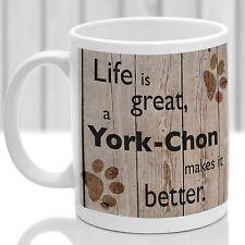 York-Chon dog mug, York-Chon gift, ideal present for dog lover